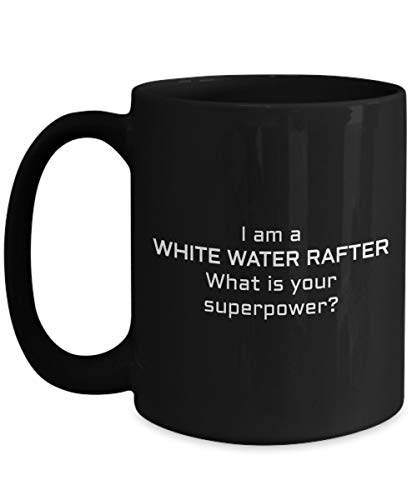 N\A Taza Negra de viga de Agua Blanca, Soy viga de Agua Blanca ¿cuál es tu Superpoder? - Regalo de viga de Agua Blanca