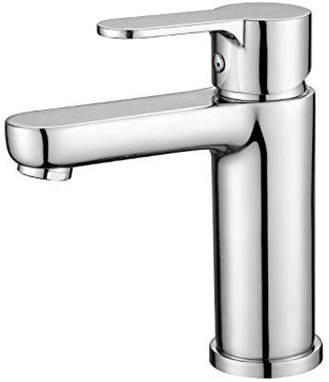 CFHJN Home Armaturen Einloch-Waschtischmischer Einhand-Heisswasser und Kaltwasserhahn Waschbecken Becken Wasserhahn
