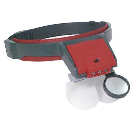 Fernglas – Lupe mit Augenmuschel vorne für Uhren, Schmuck, Geologen, Kapillaren, Nähen, Leiterplatten, Modellbau, Schweißen. - R7504