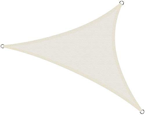 Cool Area Toldo Vela de Sombra Triángulo Rectángulo 4 x 4 x 5.65 Metros, Impermeable Protección UV para Patio Exteriores Jardín, Color Crema