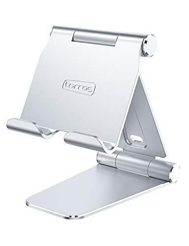 Soporte plegable de aluminio para tablet para cursos en línea/trabajo, compatible con iPad Pro 12.9, 10.5, 9.7, iPad Air Mini 2 3 4, Samsung Tab y todos los dispositivos de 4,7 a 13 pulgadas