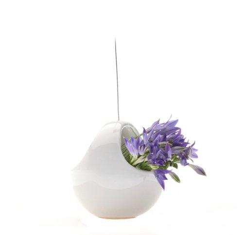 Chive, Vaso in Ceramica da Appendere al soffitto, Bianco (White)