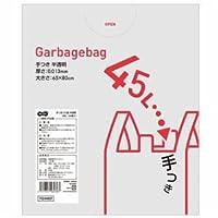 TANOSEE 手つきゴミ袋 半透明 45L 1パック(50枚) ×10セット