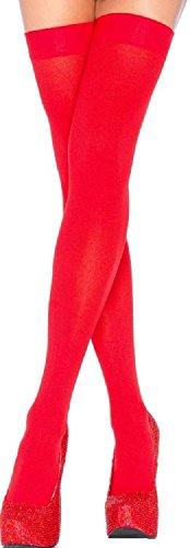 Leg Avenue Damen Overknee Strümpfe Nylon 70 DEN Rot Einheitsgröße 36 bis 40