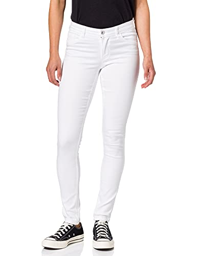 Only ONLULTIMATE King Life REG SK ANA143 Jeans, White, S_32 para Mujer