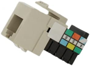 Leviton 41106-RT6 Voice Grade QuickPort Connector, Light Almond