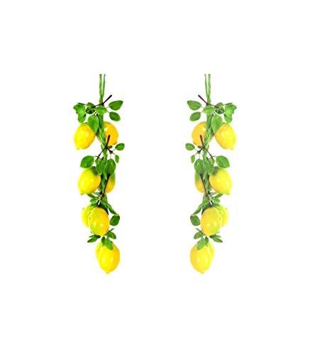 TradeShopOISEART - Treccia Limoni Frutta Finta Artificiale Composizione BANCO Limone AGRUMI - 00015945