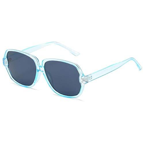 ZZOW Gafas De Sol Cuadradas De Gran Tamaño Vintage para Mujer, Gafas De Sol Graduadas De Diseñador De Marca, Gafas De Sol De Uña para Hombre, Gafas De Sol Uv400