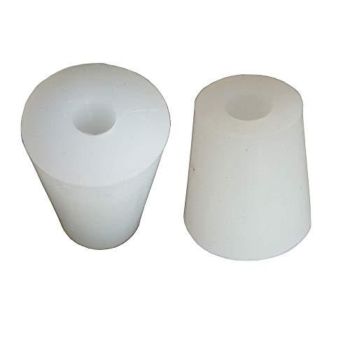 3#-14# Silikon Plug mit Loch für Airlock Ventil Erzeugung Brew Wein Lebensmittelechtes Silikon Gummi Stopper 3#