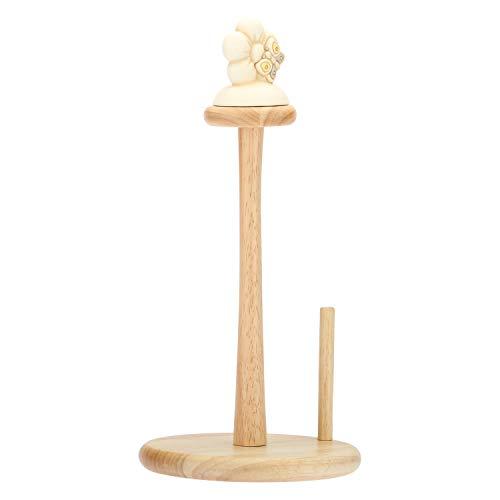 THUN® - Portarotolo da Cucina con Fiore e Farfalla - Legno e Ceramica - Linea Elegance