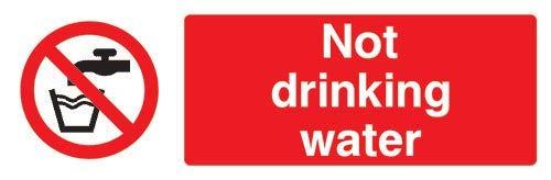 Pegatinas Autoadhesivas para señal de Seguridad de Agua no Potable (30 x 10 cm)