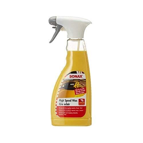 SONAX HighSpeedWax (500 ml) blitzschnelle, hochwirksame Reinigungs- und Konservierungsemulsion für jeden Lacktyp | Art-Nr. 02882000