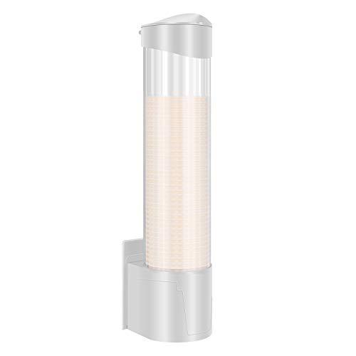 LQKYWNA Dispenser per Tazza a Parete, Antipolvere Trasparente di Grande capacità 70 7,5 cm Porta Bicchieri in plastica e Carta per l'home Hotel