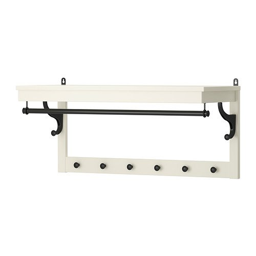 Ikea HEMNES–Sombrero Estante, Blanco–85cm