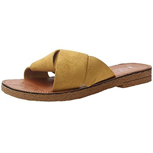 [Yino] (イノ) サンダル ペタンコ フラットサンダル レディース ビーチサンダル スリッパ 夏 美脚 ローヒール 歩きやすい かわいい 大人 可愛い シンプル レジャー