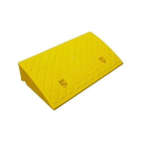 C-J-Xin Trolley tröskelplast, plast uteplats dörröppning sluttning kudde bil tvätt kvadrat utomhus service ramper gul vägkanten uppförsbackar storlek: 50 * 27 * 11cm hund ramper