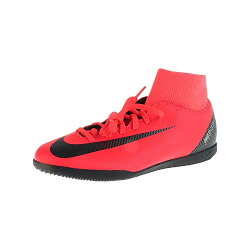 Nike Unisex-Erwachsene Superfly 6 Club Cr7 Ic Futsalschuhe, Mehrfarbig (Bright Crimson/Black/Chrome 600), 44.5 EU