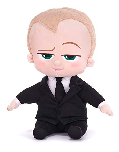 Boss Baby 2 FAMILY BUSINESS Plüsch Figur weiche Puppe 28 cm NEUE EDITION | Boss oder Tina Spielzeug Film 2021 Cartoon Action Figuren Original Kuscheltier Puppen für Kinder Geburtstag Geschenk (Boss)