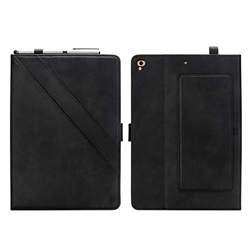 HHF Tab Accessories For iPad 2018 9.7'' 2017 5/6th, Retro Business Smart Cover Tablet stand Case for ipad pro 9.7 / iPad Air/iPad Air 2 (Color : Black)
