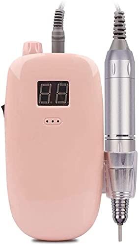X&Z-XAOY Taladro Eléctrico De Uñas Juego De Pedicura para El Cuidado De Las Uñas Portátil para Uñas Acrílicas Y Uñas De Gel 35000 RPM (Color : Pink)