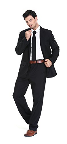 U LOOK UGLY TODAY Men's Party Suit Solid Color Prom Suit for Themed Party Events Clubbing Jacket with Tie Pants at Amazon Men's Clothing store