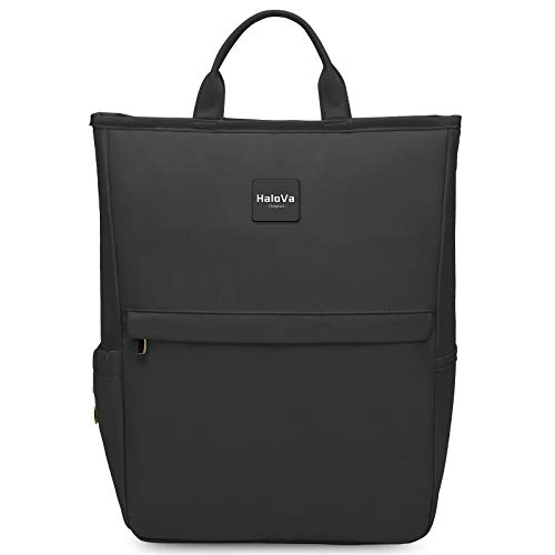 HaloVa Diaper Bag Multi-Function Waterproof LightWeight Travel Backpack Nappy Bags for Baby Care, Large Capacity, Stylish and Durable (Black)