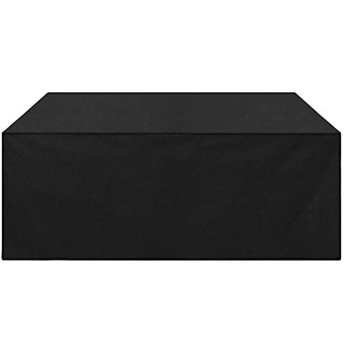 BAOFI Garden Furniture Covers Rectangular 280x240x106cm, Patio Furniture Cover Set Waterproof, Patio Table Covers 420D High Density Oxford Fabric Breathable Outdoor,Black