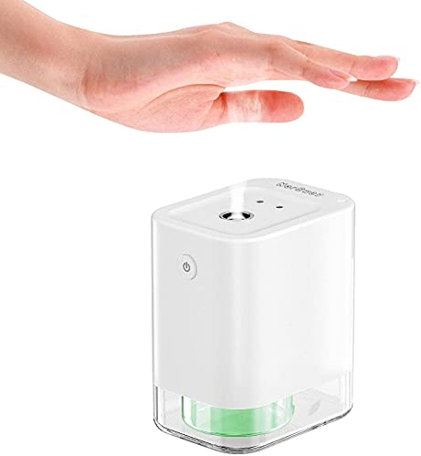 Kixre Modern Touchless Hand Sanitizer Dispenser-USB Rechargeable -Kids Friendly -LeakProof and Portable-Perfect for liquid alcohol-Automatic Hand Sanitiser Device