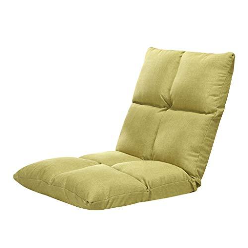 Eenvoudige comfortabele lubstoel met 5 snelheden, verstelbaar van katoen en linnen, verwijderbaar sofazitkussen, woonkamer, slaapkamer, meditatiespel.