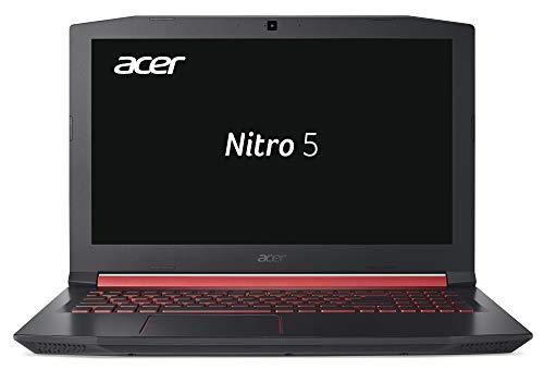 Acer Nitro 5 AN515-51-76K2 39,6 cm (15,6 Zoll Full-HD IPS matt) Gaming Notebook (Intel Core i7-7700HQ, 8GB RAM, 512GB PCIe SSD, GeForce GTX 1050Ti (4GB VRAM), Win 10) schwarz/rot