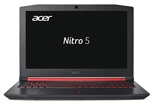 Acer Nitro 5 AN515-51-76K2 39,6 cm (15,6 Zoll Full-HD IPS matt) Gaming Notebook (Intel Core i7-7700HQ, 8GB RAM, 512GB PCIe SSD, GeForce GTX 1050Ti (4GB VRAM), Win 10) schwarz/rot
