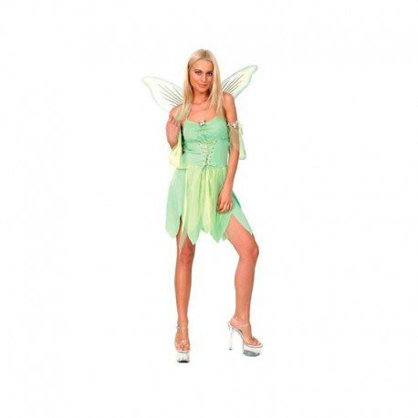 Carnaval Disfraz hada verde mujer