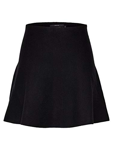 ONLY Damen Onlnew Dallas Skirt EX KNT Rock, Schwarz (Black Black), Large (Herstellergröße:L)