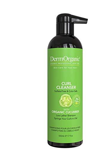 DermOrganic Curl Shampoo with Organic Cucumber - Sulfate-Free & Color...