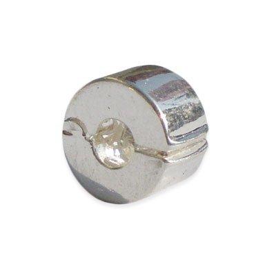 Andante-Stones Perlina Bead Clip Stopper in argento 925 Elemento Pallina per perline European Beads + Sacchetto di organza
