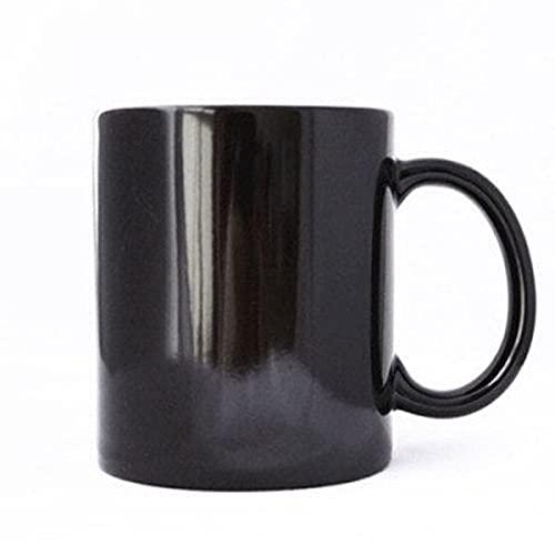 Taza mágica de cerámica con diseño de león del Rey del Bosque, taza que cambia de color, taza sensible al calor, taza de café y leche de regalo (capacidad: caja de espuma, color: taza de león)