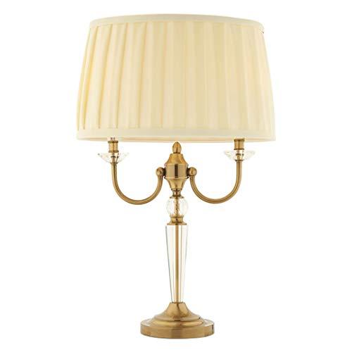 Lámpara de escritorio para sala de oficina Mesita de luz de la lámpara, dormitorio de la lámpara D11.8xH21.6 pulgadas lámpara de mesa de cristal dormitorio simple lámpara de mesa conveniente for el ho