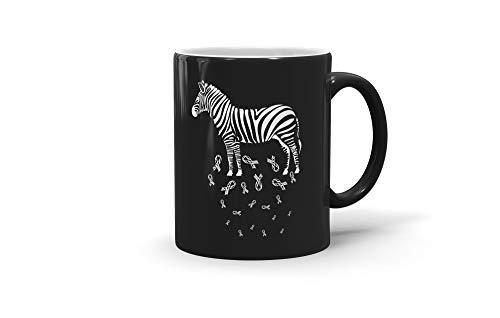 TALOGEM COFFEE MUG Ehlers Danlos Syndrome Awareness Gifts Zebra Colorful For Men Women 200327 11oz Black Mug