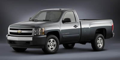 2007 Chevrolet Silverado 1500 Work Truck, 4-Wheel Drive Regular Cab 133.0', Black