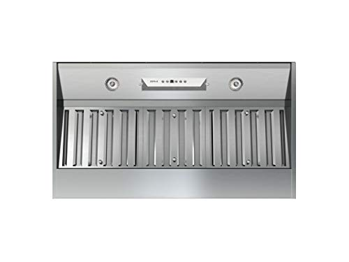 Zephyr AK9234BS 36' Essentials Power Monson I One-Piece-Liner with 600 CFM Internal Blower, ACT Airflow Control Technology and Stainless Steel Pro Baffle Filter, in Stainless Steel