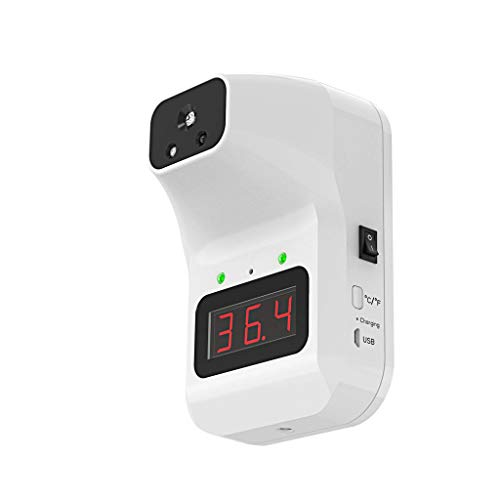 Non-Contact Infrared K3 Forehead Thermometer, Wall-Mount Touchless IR Temperature Scanner Self-Service Fever Test for Schools, Offices, Businesses, Factories