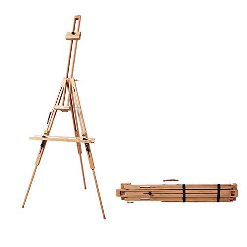 WH-IOE Chevalet Art Peinture Chevalet Porte-Robuste Portable Support Idéal for Portable Esquisser Dessin et Peinture 94x15cm Mariage Enfant Grand (Color : Natural, Size : 94X15CM)