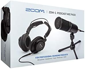 Zoom ZDM 1 Podcast Mic Pack Podcast Dynamic Microphone Headphones Tripod Windscreen XLR Cable product image