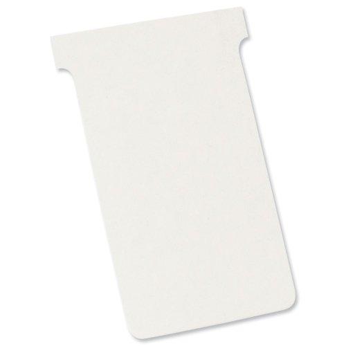 Nobo Kartentafel Zubehör T-Karten in Blisterverpackung, Größe 2, 100 Stück, weiß