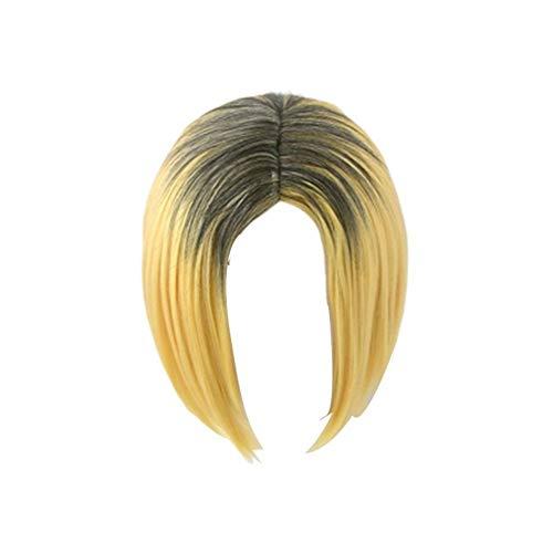 Kenma Kozume Cosplay Perücke Kurzes gelbes Kostüm Spiel Perücken Halloween Kostüme Haar Perücke