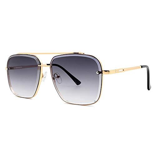 NXMRN Gafas De Sol Gafas De Sol Graduadas Clásicas De Moda De Seis Estilos Cool Men Vintage Sun Glasses Uv400-gris