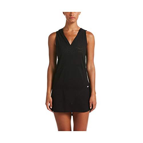 Nike Geo Cover-Up Hooded Dress Black LG