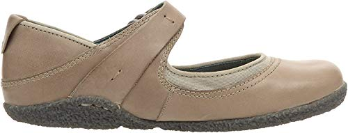 Timberland Bayden MJ Womens Leather Mary Jane Ballerina Shoes -Grey-8.5