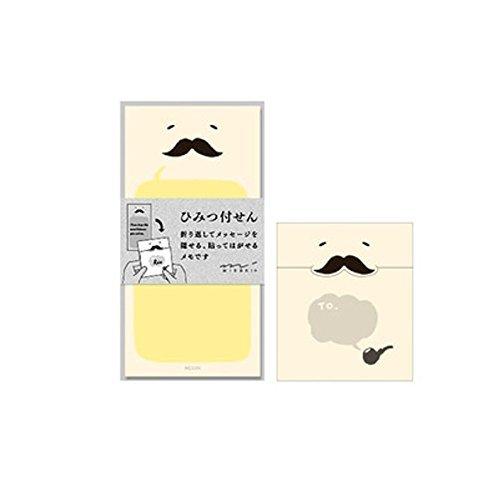 ミドリ 付せん紙 ひみつ ひげ柄 11766006 5個セット