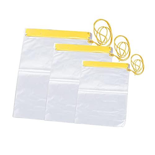 GeKLok 3 unids/set impermeable teléfono bolsa caso documento transparente bolsa mapas agua PVC al aire libre apretado caso para playa natación buceo surf (transparente)